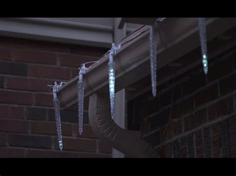 noma cascading led icicle lights noma clip cascading led icicles