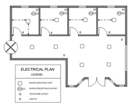 floor plan with electrical symbols ezblueprint com