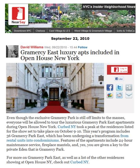 gramercy east luxury apts included in open house new york