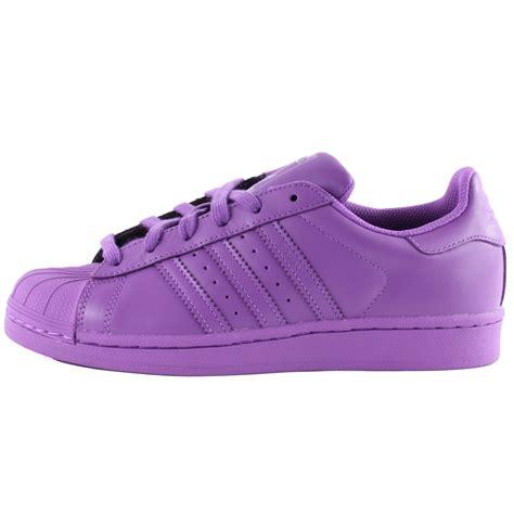 adidas superstar supercolour femmes cuir violet baskets chaussures neuves toutes tailles ebay