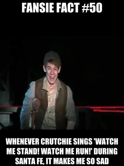 correction  crutchie  remotely angsty    rip  heart  newsies musical