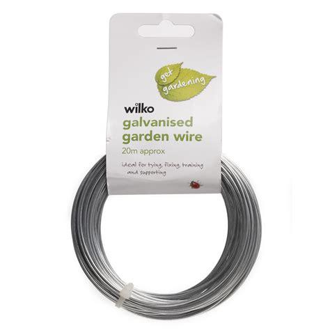 wilko get gardening wire galvanised x 20m at wilko
