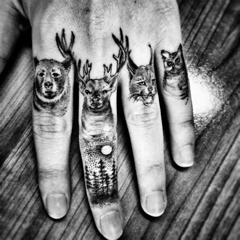tattooed animals 60 secret finger tattoos that nobody will see tattoozza
