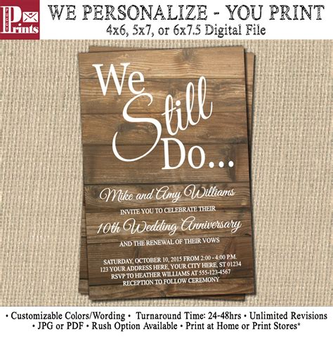 Wording Of Wedding Renewal Invitations by Vow Renewal Invitation Wedding Anniversary By Puggyprints