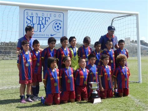 barcelona academy youth soccer teams playing up