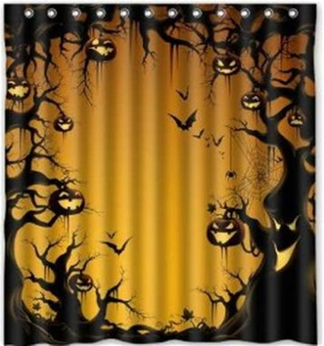 halloween shower curtains custom halloween pumkins shower curtain 60 quot x 72 quot bathroom