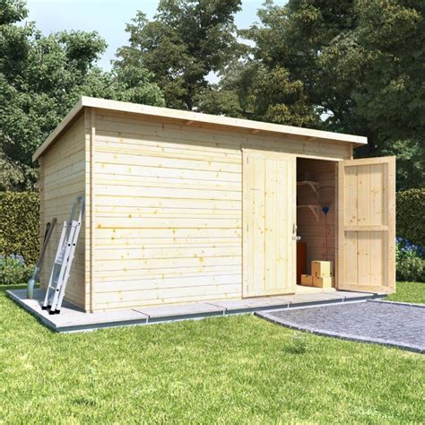 cabin sheds billyoh pent log cabin windowless heavy duty shed range