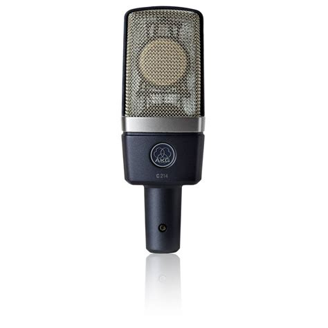 condenser microphone how akg c214 large diaphragm condenser microphone studio recording from inta audio uk
