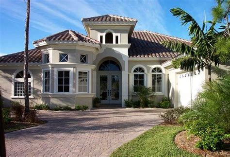 mediterranean style house mediterranean home design with cream wall paint color