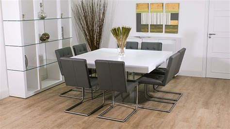 glass and white dining tables white oak square dining table glass legs seats 6 8