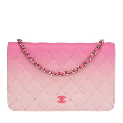 Chanel Anak Pink K chanel bi color pink quilted lambskin wallet on chain woc world s best
