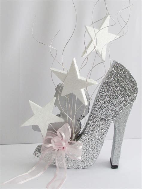 high heel shoe centerpieces baby on high heeled shoe centerpiece designs by ginny