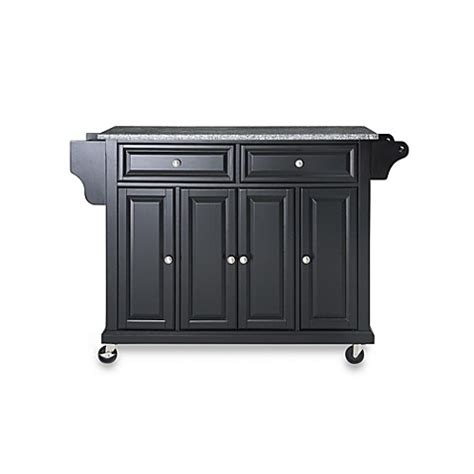 dark wood black granite top kitchen island cart large buy crosley rolling kitchen cart island with solid