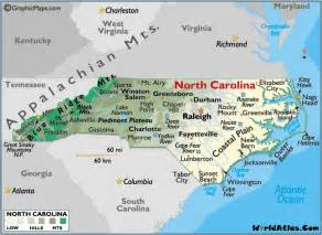 carolina mountain map carolina map