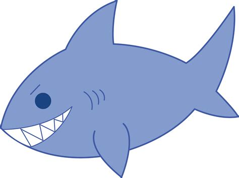 Clipart Of Shark mischievous blue shark free clip
