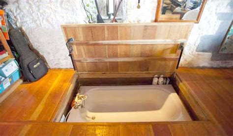 in floor bathtub tiny house furniture for the small home