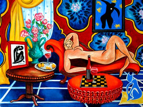 A Painting Within A Painting by A Painting A Day Objets D The Matisse Within