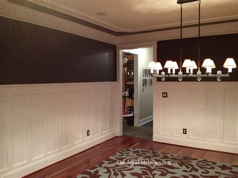 wainscoting dining room ideas after tall craftsman wainscoting diningroom trae taylor