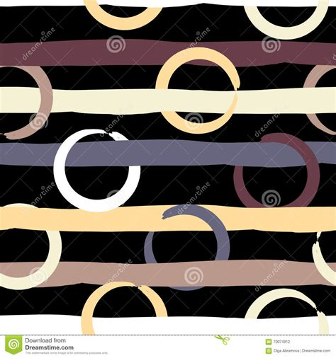 vector seamless pattern brush stripes strokes stock vector cute vector geometric seamless pattern polka dots and
