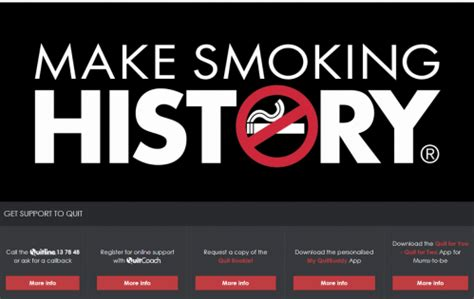 make smoking history campaign cancer council western