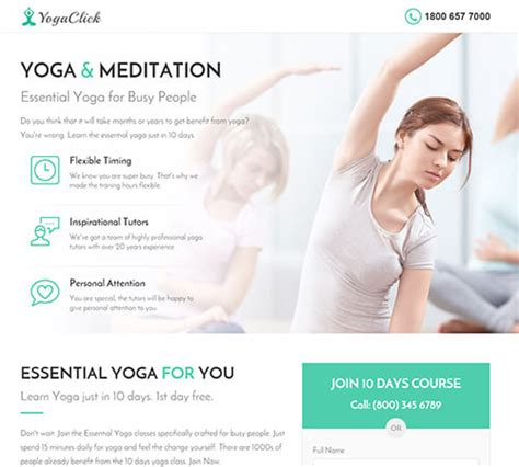 themeforest yoga medical spa yoga fitness landing page template by