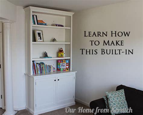 build diy built  bookcases cabinets plans plans wooden