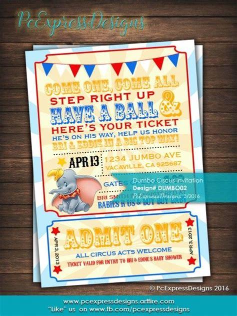 dumbo circus baby showerbirthday invitation shops baby showers  birthdays