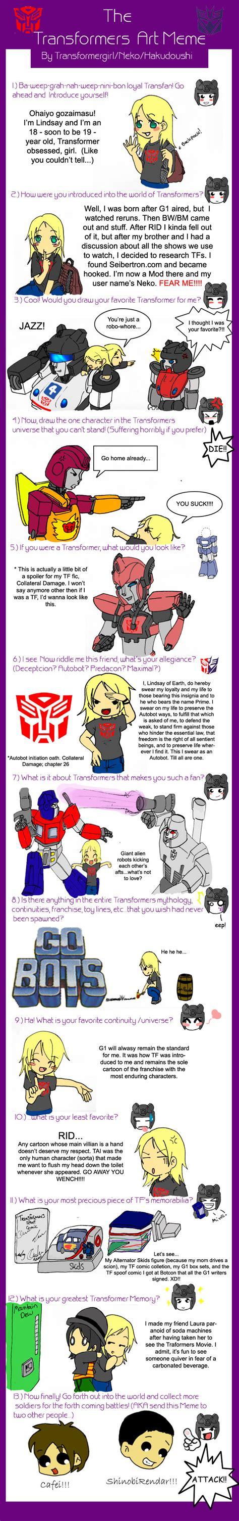 Tf Meme - tf art meme filled by transformergirl on deviantart
