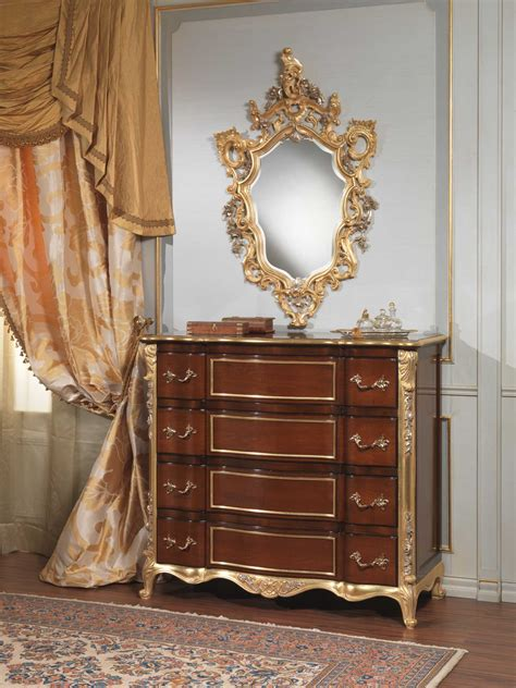 classic italian bedroom  century chest  drawers