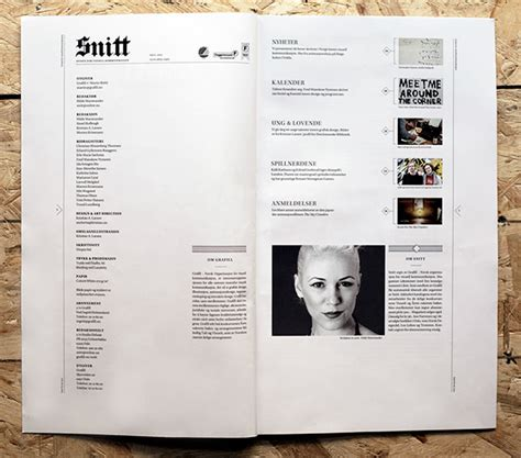 magazine layout board snitt magazine on behance