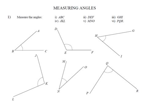doodle angles measuring and drawing angles worksheet mmosguides