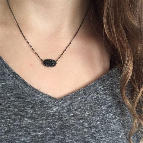 Elisa Black kendra elisa pendant necklace in black drusy poshmark