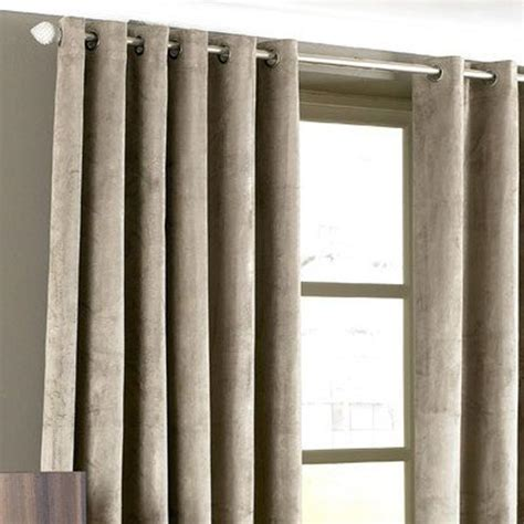 velvet eyelet curtains imperial velvet woven lined eyelet curtains ebay