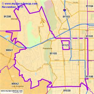zip code map of 91105 demographic profile residential