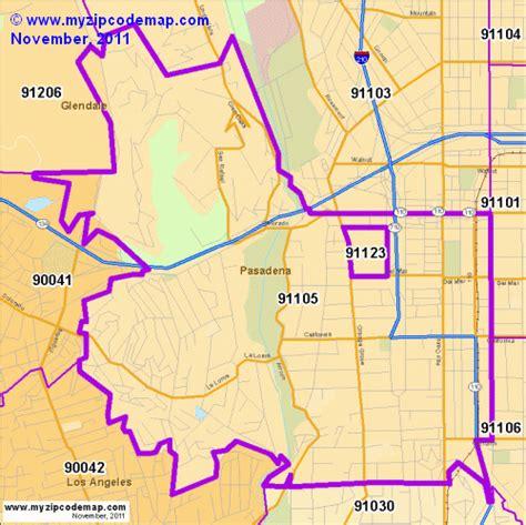 pasadena texas zip code map zip code map of 91105 demographic profile residential housing information etc
