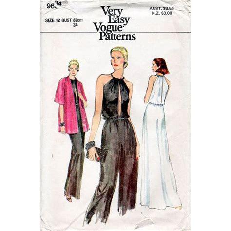 jumpsuit paper pattern 1970s jumpsuit halter dress and jacket disco era american
