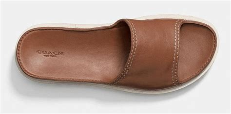 mens coach slippers coach s slide sandal leather sandals slippers