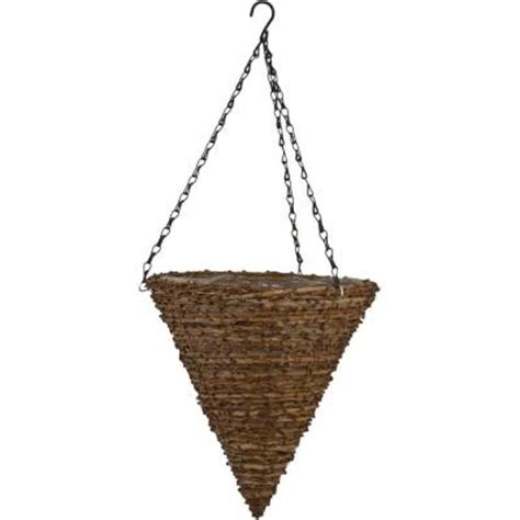 Home Depot Hanging Planters by Pride Garden Products 12 In Vine Cone Coconut Fiber