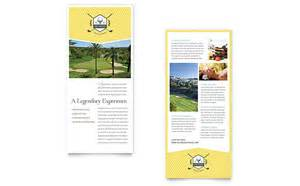 Rack Card Template For Word by Golf Resort Rack Card Template Word Publisher