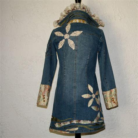upcycled denim upcycled clothing denim jacket on the line