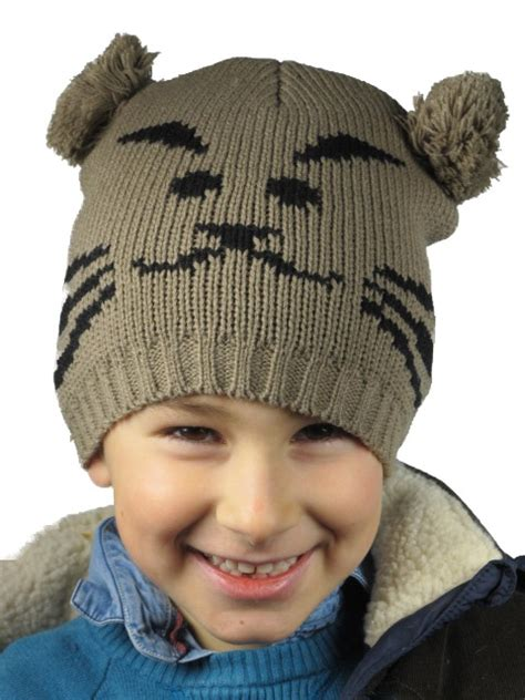 animal hats knitted animal pom pom hats