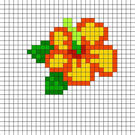 bead art pattern maker hibiscus perler bead pattern bead sprites simple fuse