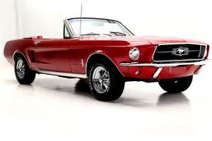 67 Black Mustang 1967 Ford Mustang Convertible With Factory A C American Dream Machines Classic Cars Muscle