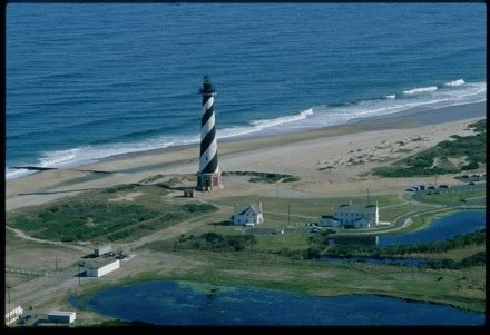 aerial view of cape hatteras lighthouse in its original