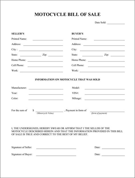 Bill Of Sale Pdf Real Estate Forms Bill Of Sale Form Nc Template