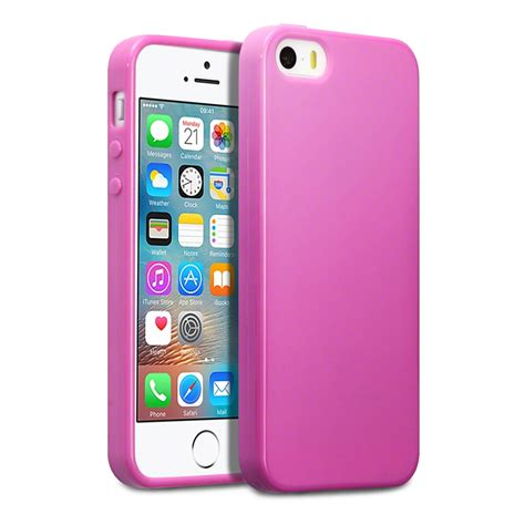 Slim For Iphone 55s Pink slim rubber tpu gel cover for apple iphone se pink matte finish ebay