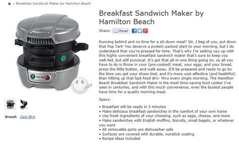 Sandwich Maker Description For Resume