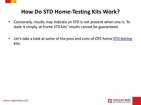 are the counter home std testing kits safe