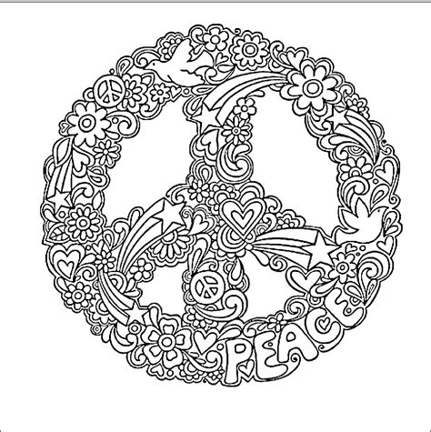 hippie coloring pages hippie coloring pages peace signs trippy coloring pages