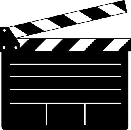 clapper board vector for movie or film, vector clipart.me